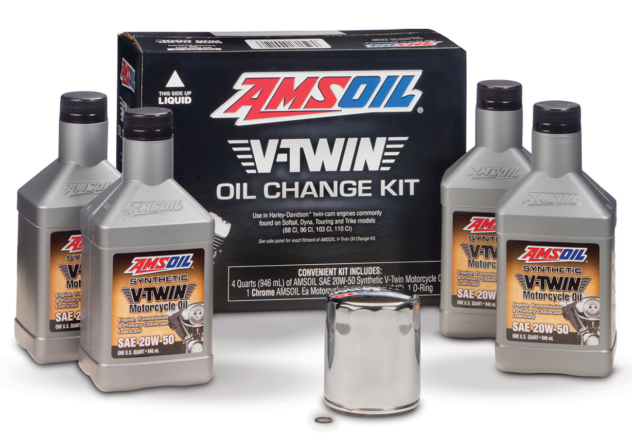 V-Twin Motorcycle Oil Change Kit