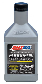 European Car Formula 5W-40 Synthetic Motor Oil