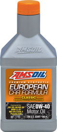 European Car Formula 0W-40 Synthetic Motor Oil